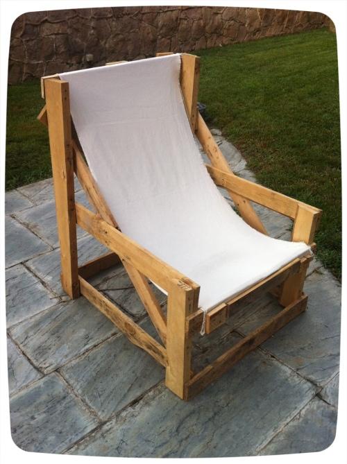 Fotos sillón exterior palets Mercy Guzmán