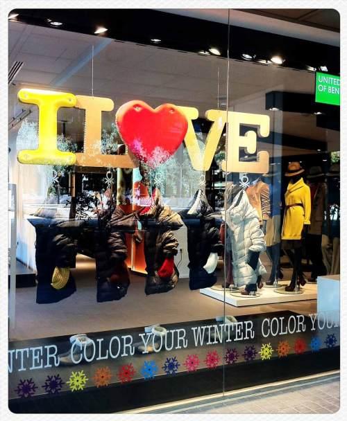 Benetton, Escaparates, Barcelona, I love You, The Visual Corner, Mercy Guzmán
