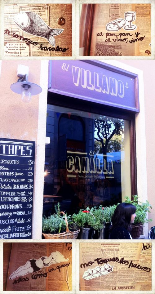El canalla y el villano, francisco segarra, laia armengol, restaurantes, barcelona, the visual corner, bar, tapas