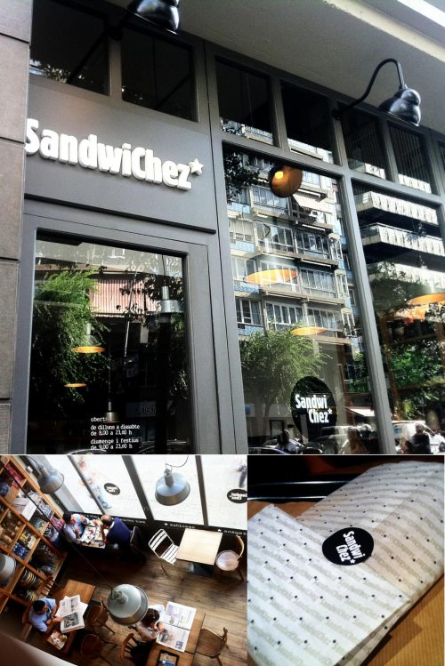 Sanwichez, restaurantes, barcelona, interiores, bocadillos, sarria, plaza molina, the visual corner, mercy guzmán, estilo nórdico, interiorismo, gastronomia